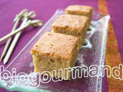gâteau moelleux à la purée d'amande et à l'orange - blog cuisine