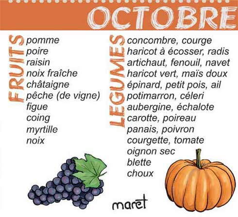 calendrier des fruits et l gumes bio d 39 octobre par vent d 39 autan. Black Bedroom Furniture Sets. Home Design Ideas